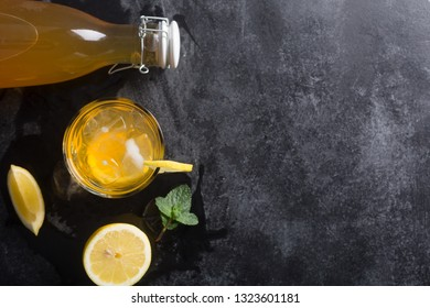 Kombucha is a drink produced by fermenting tea with symbiotic culture of bacteria and yeast
