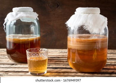 Kombucha is fermented tea. Not only does it have the same benefits as tea, but it is also rich in useful probiotics.