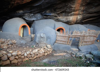 Kome Caves -  A group of cave dwellings made out of mud in the district of Berea, Lesotho
