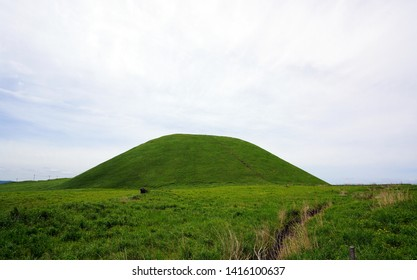 Komezuka of Aso mountain,Landscape of the Aso plateau in Japan,