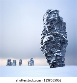 Komi landscape, Russia, Urals, Manpupuner