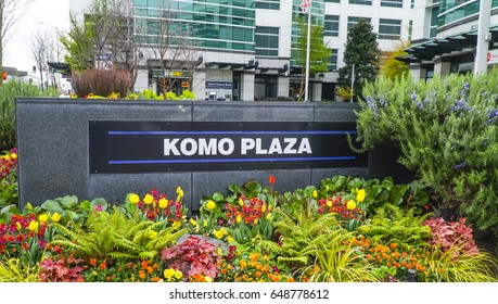 Komo Plaza in Seattle - SEATTLE / WASHINGTON - APRIL 11, 2017