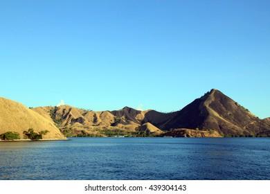 Komodo National Park, Viewed from the Waterside. Nusa Tenggara, Indonesia.