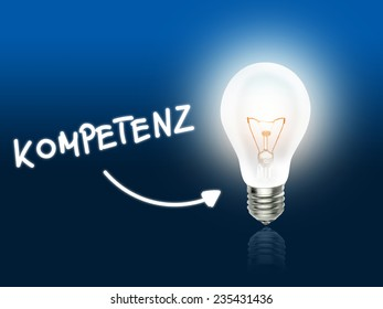 Kompetenz Bulb Lamp Energy Light blue Idea Background