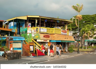 KONA, HAWAII - SEPTEMBER 6, 2011: Surfer´s restaurant in Kona on Big Island on September 6, 2011 in Kona, Usa. Kona is the center of commerce and of the tourist industry on West Hawai´i.