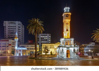 Konak Square in Izmir at Night
