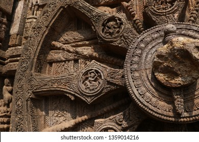 Konark temple time wheel detail