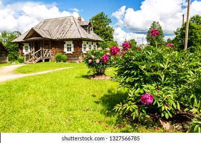 Konchanskoe-Suvorovskoe, Russia - July 22, 2017: Museum homestead of Alexander Suvorov near Borovichi. Generalissimo A. Suvorov is a great russian warlord
