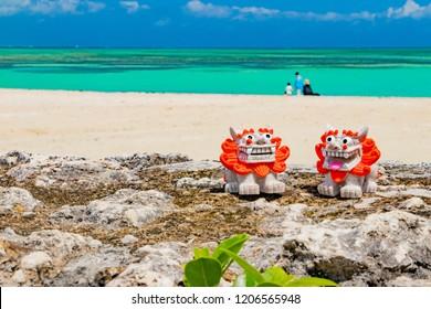 Kondoi Beach and Shisa of Okinawa Ishigakijima