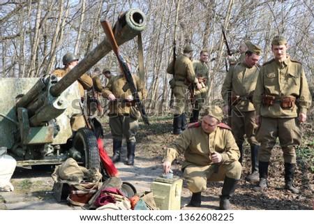 Konigsberg Kaliningrad Russia 04062019 Army Soldiers Preparing Seize