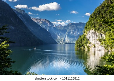 Konigssee Idyllic alpine lake in Berchtesgaden, Bavaria, Germany
