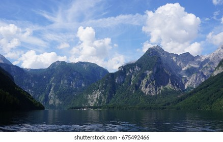 The Konigssee lake in Bavaria, Germany, near the Austrian border.