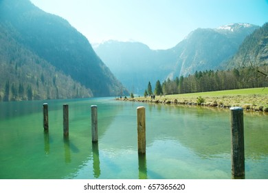 Konigssee Lake and mountain travel location Germany