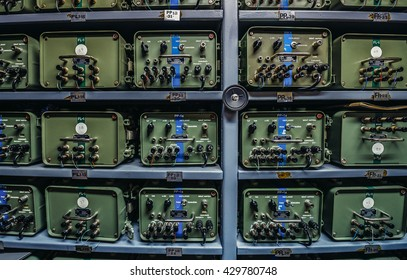 Konjic, Bosnia and Herzegovina - August 25, 2015. radio communication center in ARK (Atomska Ratna Komanda) Nuclear Command Bunker built between 1953 and 1979 for Josip Broz Tito