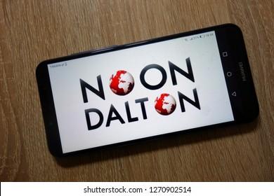 KONSKIE, POLAND - December 28, 2018: Noon Dalton logo displayed on smartphone