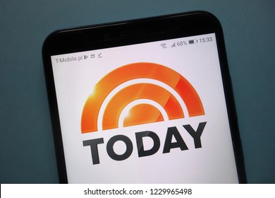 KONSKIE, POLAND - November 12, 2018: The Today Show logo displayed on smartphone. Today, also called The Today Show, is an American news and talk morning television show that airs on NBC