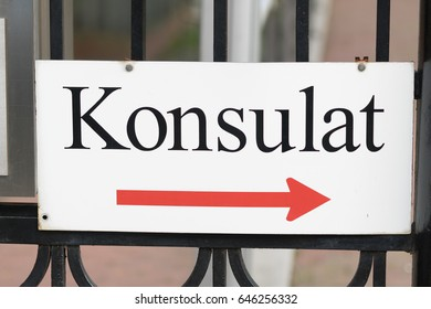 Konsulat, German text for Consulate
