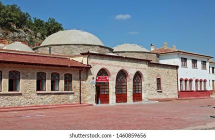 Ilgın / Konya - July 25, 2019: Sahip Ata Hamam located in Ilgın district of Konya
