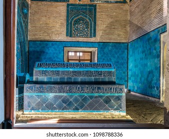 KONYA, TURKEY - APRIL 15, 2017: Ata Fahrettin Tomb of the Anatolian Seljuk State Viziers in Konya, Turkey. He is one of the most important architects of the vizier age who died in 1288.