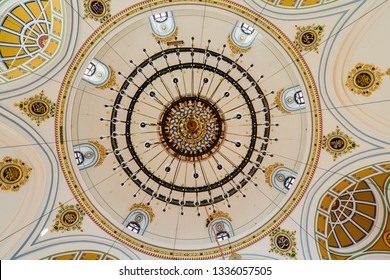 Konya / Turkey - December 10 2018: Aziziye Mosque architectural details.