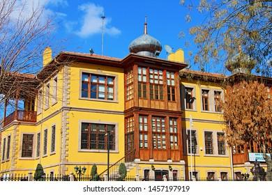 Konya / Turkey - February 17, 2019: Historic Maturation Institute Building in Konya.