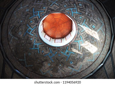 Konya / TURKEY  - JANUARY 01,2018:  The beautiful dome of Ince Minareli Medrese (Madrasah with thin minaret) in Konya.