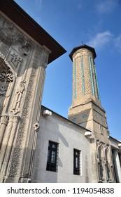 Konya / TURKEY  - JANUARY 01,2018: Ince Minareli Medrese (Madrasah with thin minaret) in Konya.
