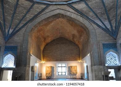 Konya / TURKEY  - JANUARY 01,2018:  The interior view of Ince Minareli Medrese (Madrasah with thin minaret) in Konya.