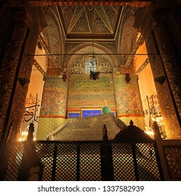 Konya Turkey January 12, 2017: The Mevlana is the beautiful mausoleum of Jalal ad-Din Muhammad Rumi, a Persian Sufi mystic also known as Mevlana or Rumi.