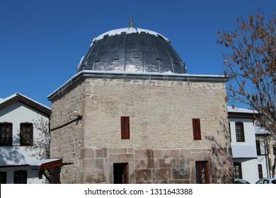 Konya / Turkey - January 9, 2019: The Seljuk period Sakahane Mosque in Konya.