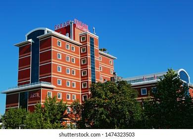 Konya / Turkey - July 20, 2019: Private Farabi Hospital in Konya