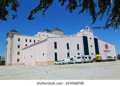 Konya / Turkey - July 20, 2019: Konya Television Building in Konya