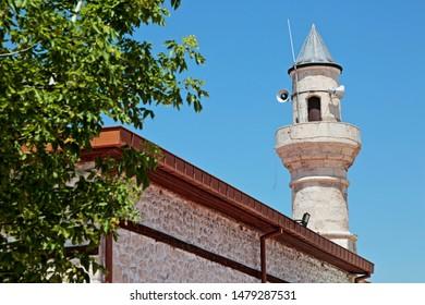 Konya / Turkey - July 30, 2019: Obruk Mosque in Obruk Village of Konya. Seljuk period.