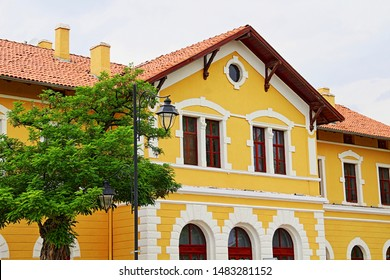 Konya / Turkey - June 1, 2019: Konya Railway Station building belonging to Ottoman period