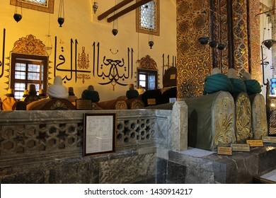 Konya / Turkey - June 20, 2019: Mevlana Museum in Konya