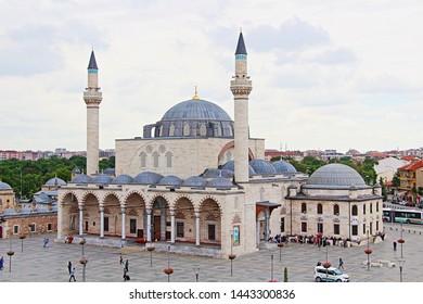Konya / Turkey - June 20, 2019: Sultan Selim Mosque belonging to the Ottoman period in Konya.
