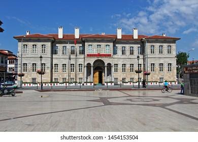 Konya / Turkey - June 29, 2019: Konya Province Mansion built during the Ottoman period