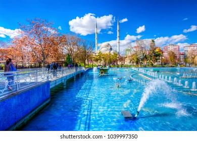Konya, Turkey - March 10, 2016 : Kulturpark view in Konya. Kulturpark is one of recreation center in Konya.