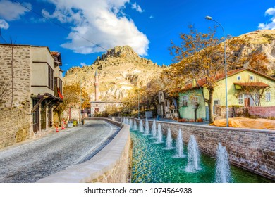 Konya, Turkey - March 10, 2016 : Sille Village view in Konya. Sille is old greek village and it is populer tourist attraction in Konya.