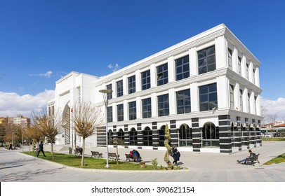 Konya, Turkey - March 10, 2016 : People are visiting Konya provincial library in Konya.