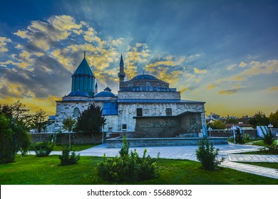 Konya, Turkey, is the mausoleum of Jalal ad-Din Muhammad Rumi, a Persian people Sufi mystic also known as Mevlâna or Rumi
