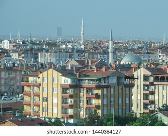 Konya, Turkey, May 18, 2015. Konya is center of Sufi mystical practices and one of the most important centers of pilgrimage. View of a residential area.