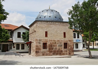 Konya / Turkey - May 26, 2019: The Seljuk period Sakahane Mosque in Konya.