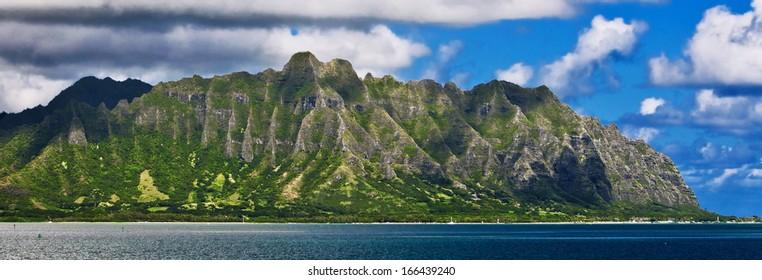 Koolau Range on Oahu, Hawaii