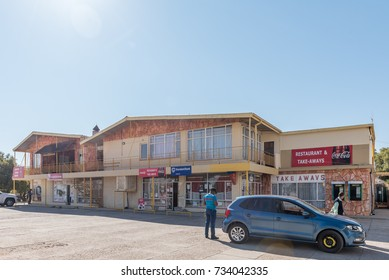 KOOPMANSFONTEIN, SOUTH AFRICA - JULY 7, 2017: The shopping centre in Koopmansfontein, a village in the Northern Cape Province of South Africa
