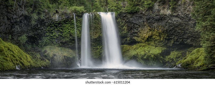 Koosah Falls waterfall located in Willamette National Forest, Oregon.