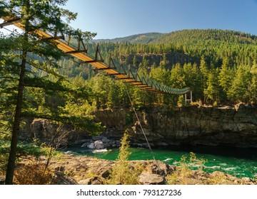 Kootenai Falls in the Summer