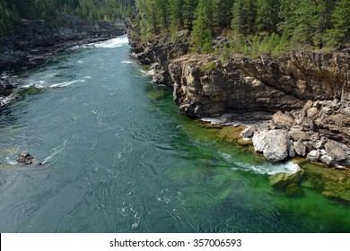 Kootenai River Between Troy and LIbby Montana - Kootenai Falls, Cabinet Mountains/Wilderness
