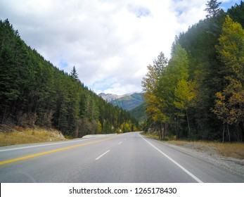 Kootenay Highway (Banff-Windermere Highway) in autumn, Kootenay National Park, Canadian Rockies, British Columbia, Canada