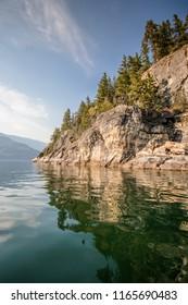 Kootenay Lake in Kaslo, British Columbia, Canada